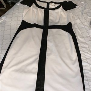 Dresses & Skirts - Faux leather trim dress